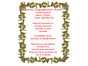 Christmas Services 2018