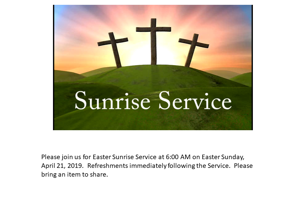 For Website re Sunrise Service 2019